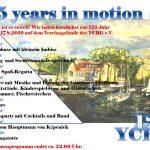 125 Jahre YCBG – Das Programm