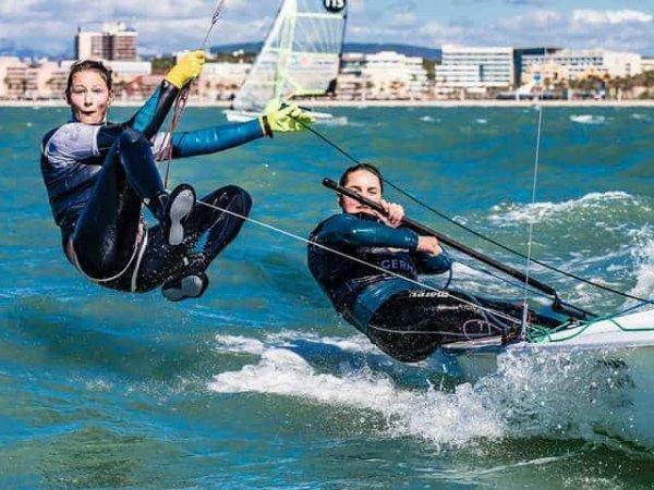 Jugend-Segeln im 470er Trainingslager vor Mallorca